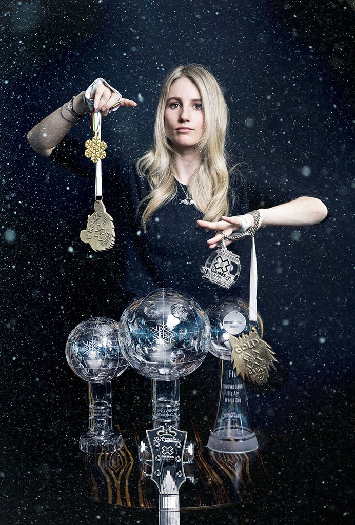 Anna Gasser with her Trophys